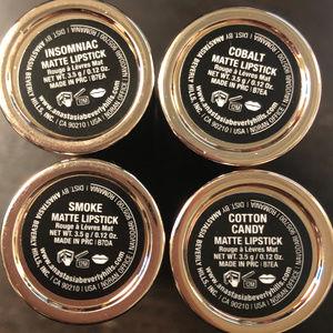 Set of 4 ABH Matte Lipstick